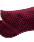 Saddle half pad burgundy