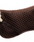 saddle half pad brown