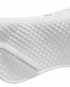saddle half pad white