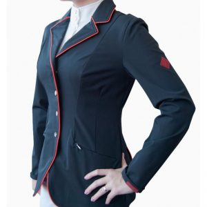 John Whitaker show jacket size 12 with red piping