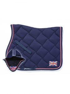John Whitaker Bling Union Jack saddle pad and fly veil