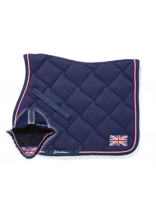 John Whitaker Bling Union Jack saddle pad and fly veil
