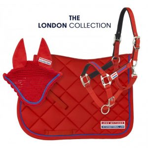 John Whitaker London collection includes saddle pad, fly veil and head collar