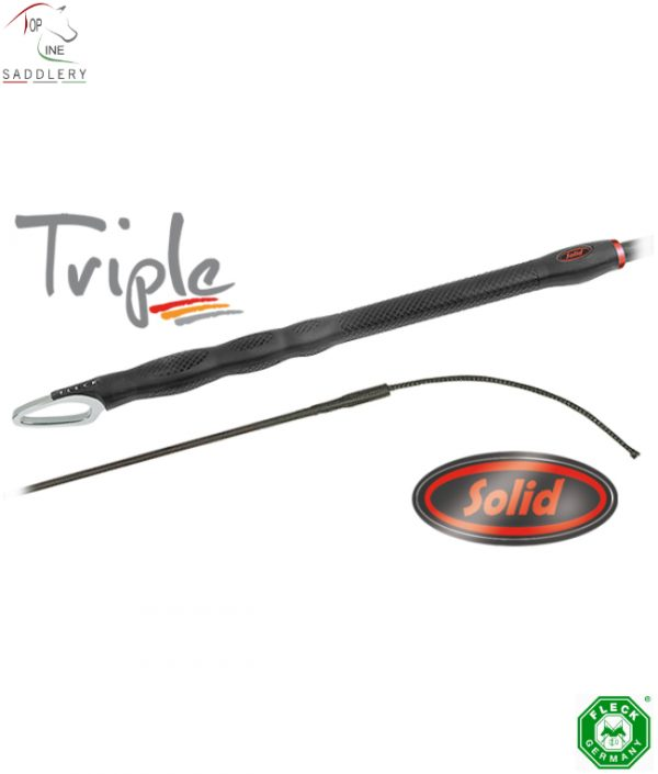 triple solid dressage whip various lengths